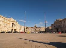 Vista del cuadrado de Trieste Fotos de archivo