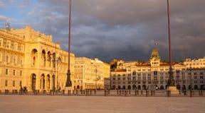 Vista del cuadrado de Trieste Imágenes de archivo libres de regalías