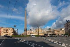 Vista del cuadrado de Vosstaniya Fotos de archivo libres de regalías