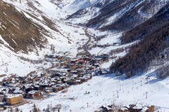 Vista del d'Iser de Val Fotografía de archivo