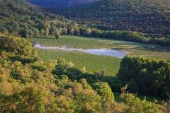 Vista del ² de Doberdà del lago Foto de archivo libre de regalías