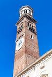 Vista del dei alto Lamberti di Torre della torre a Verona immagine stock