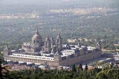 Vista del del Escorial de Palacio de Sal Lorenzo fotografía de archivo libre de regalías