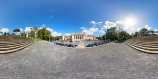 vista 360 del della Arte Moderna de Galeria Nazionale Foto de archivo libre de regalías