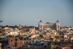 Vista del della Patria, un monumento di Altare costruito in onore di re Victor Emmanuel a Roma Immagini Stock Libere da Diritti