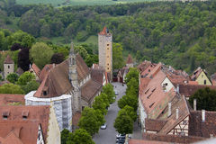 Vista del der Tauber, Germania del ob di Rothenburg Immagine Stock