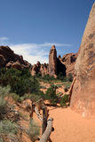 Vista del deserto - archi Immagini Stock