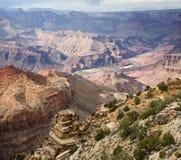 Vista del deserto del grande canyon fotografia stock libera da diritti