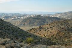 Vista del deserto del Mojave da Ryan Mountain Fotografia Stock
