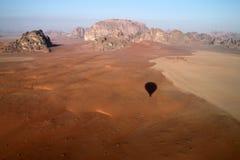 Vista del deserto del rum dei wadi Fotografia Stock