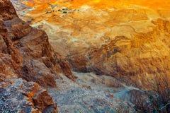 Vista del deserto di Judean Fotografia Stock