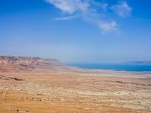 Vista del deserto e del mar Morto da Masada, Israele Fotografia Stock