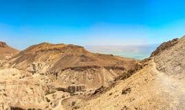 Vista del deserto rosso nell'Israele immagine stock libera da diritti