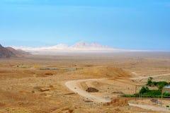 Vista del desierto pedregoso, Irán imagen de archivo libre de regalías