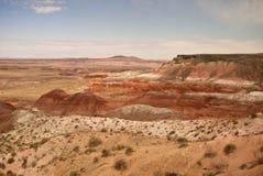 Vista del desierto pintado Foto de archivo libre de regalías