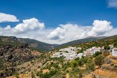 Vista del ¡ di Bayà rcal, il più alta città individuata in Sierra Nevada Immagine Stock Libera da Diritti