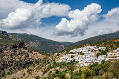 Vista del ¡ di Bayà rcal, il più alta città individuata in Sierra Nevada Immagini Stock Libere da Diritti