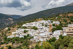 Vista del ¡ di Bayà rcal, il più alta città individuata in Sierra Nevada Fotografia Stock