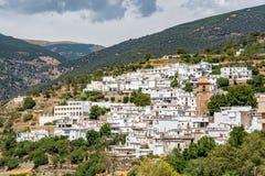Vista del ¡ di Bayà rcal, il più alta città individuata in Sierra Nevada Fotografie Stock