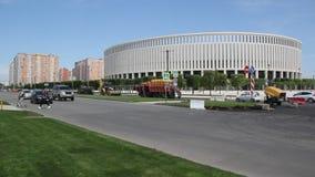 Vista del ` di Krasnodar del ` dello stadio stock footage