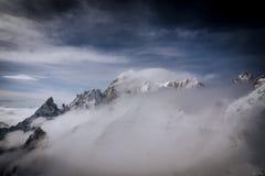 Vista del ` di Monte Bianco del ` dal terrazzo panoramical di Punta Helbronner Fotografia Stock