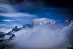 Vista del ` di Monte Bianco del ` dal terrazzo panoramical di Punta Helbronner Fotografia Stock Libera da Diritti