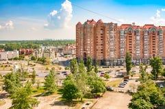 Vista del distretto di Obolon di Kiev Fotografia Stock Libera da Diritti
