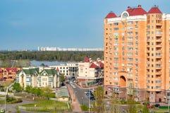 Vista del distretto di Obolon di Kiev Fotografia Stock