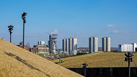 Vista del distretto di Walenty Rozdzienski Fotografie Stock