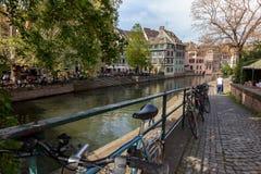 Vista del distretto minuta della Francia della La a Strasburgo fotografia stock