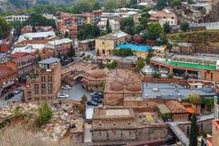 Vista del distrito de Abanotuban, Tbilisi Fotos de archivo libres de regalías