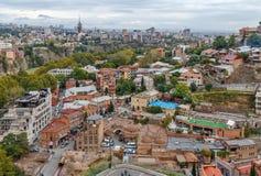 Vista del distrito de Abanotuban, Tbilisi Foto de archivo libre de regalías