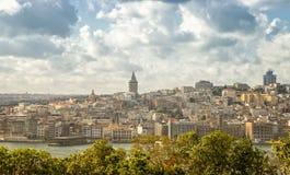 Vista del distrito de Galata, Estambul, Turquía Foto de archivo libre de regalías