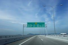 Vista del 2do puente de Penang Imagenes de archivo
