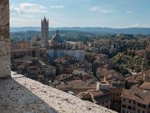 Vista del duomo di Siena, Siena, Italia Immagini Stock Libere da Diritti