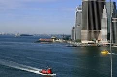 Vista del East River Fotografia Stock Libera da Diritti