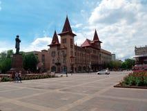 Vista del edificio conservador de Saratov de la calle de Radishchev imagen de archivo libre de regalías