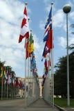Vista del edificio de la O.N.U en Ginebra Imagen de archivo