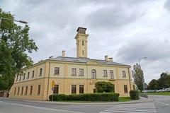 Vista del edificio del número de parte de la lucha contra el rescate y el fuego 5 Guerra Foto de archivo libre de regalías