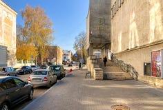 Vista del edificio del museo de Pskov de la reserva de naturaleza en la Pskov, Rusia fotos de archivo