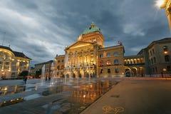 El parlamento suizo Fotografía de archivo