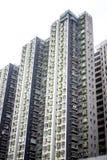 Vista del edificio del verde de Hong Kong fotografía de archivo