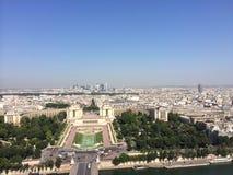 Vista del eifeltower di Parigi Immagini Stock Libere da Diritti