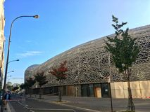 Vista del estadio de Jean-Bouin imagenes de archivo