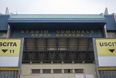 Vista del estadio de Renzo Barbera foto de archivo