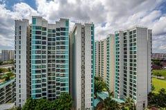 Vista del estado de vivienda de protección oficial en Singapur Imágenes de archivo libres de regalías