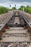 Vista del ferrocarril Imagen de archivo libre de regalías