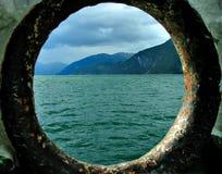 Vista del fiordo Fotografie Stock