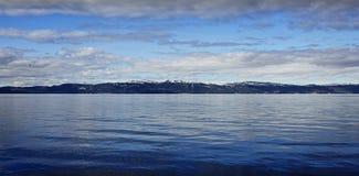 Vista del fiordo Fotografia Stock Libera da Diritti