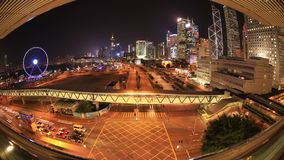 Vista del fisheye di Hong Kong stock footage